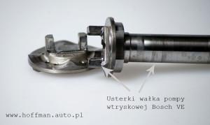 uszkodzenia pompy wtryskowej Bosch VE