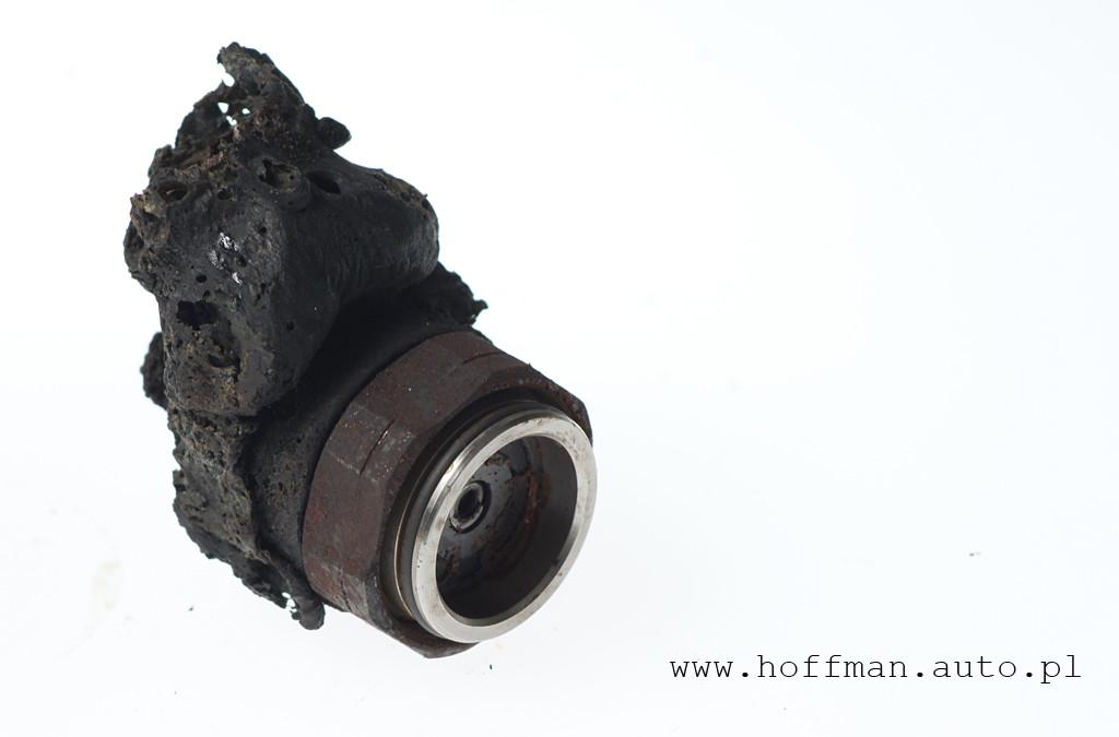 Uszkodzona - spalona cewka wtryskiwacza CR, Bosch